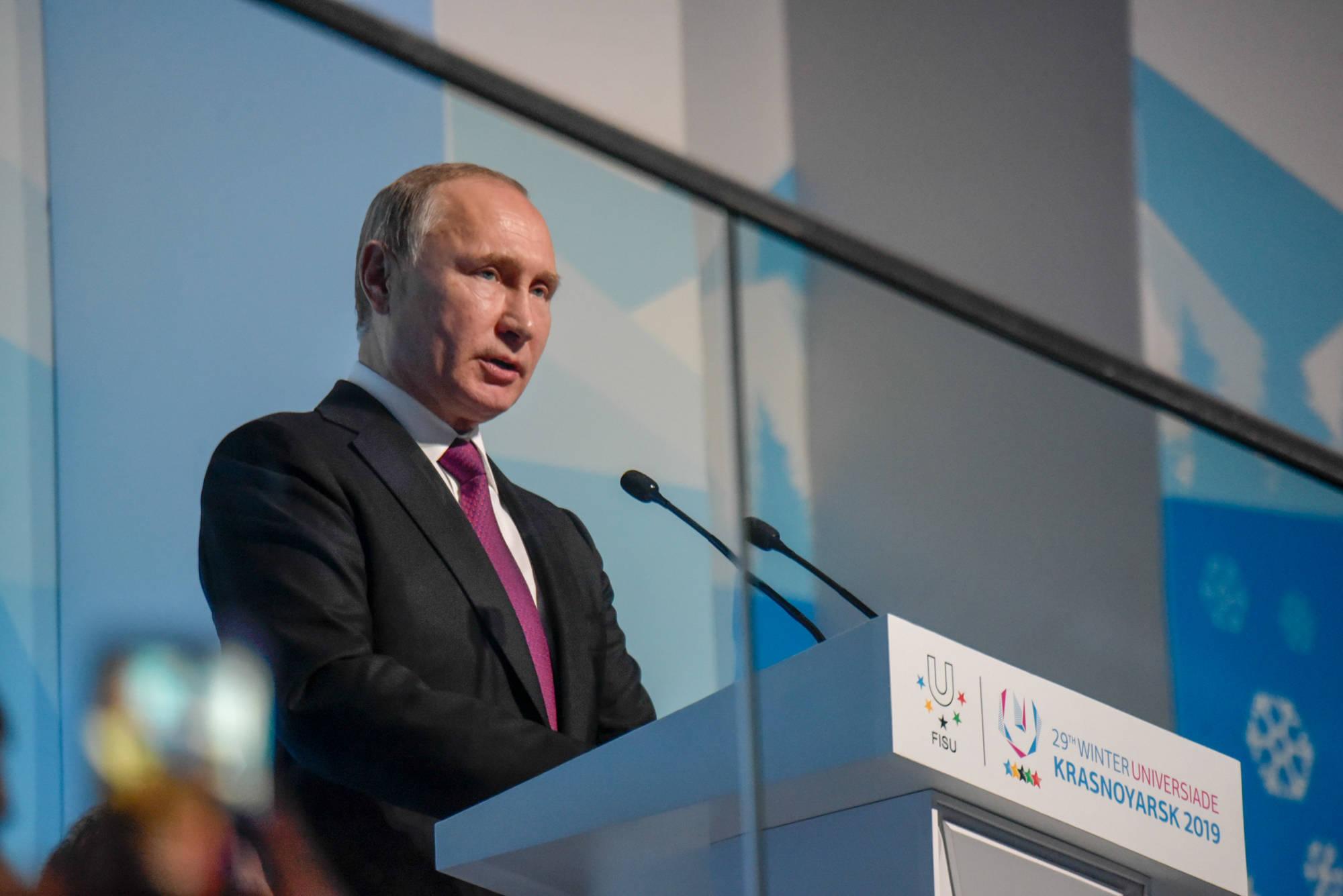 Vladimir Putin Universiade 2019